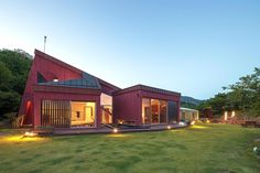 Bang Keun YOU design the Jirisan House: a red home in harmony with the natural earth toned materials - CAANdesign http://www.caandesign.com/bang-keun-design-jirisan-house-red-home-harmony-natural-earth-toned-materials/?utm_content=buffer9810f&utm_medium=social&utm_source=plus.google.com&utm_campaign=buffer