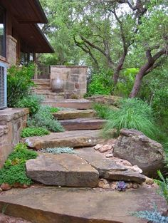 "Love this so much. ""Real"" stone stairs with the trees etc.. Biddy Craft"