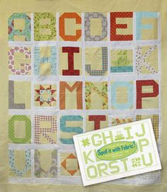 Spell it with Fabric quilt and booklet from Quilter's Corner