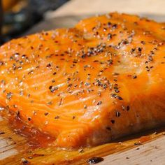 Cedar Planked Salmon with Sweet Soy Basting Sauce