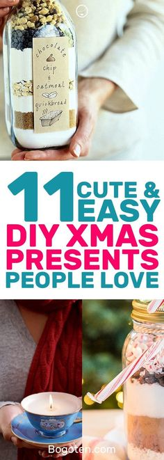 Looking for DIY Christmas gift ideas? These 11 DIY gifts will make any person happy. I love them all! #DIYGifts #DIYGiftIdeas #GiftIdeas