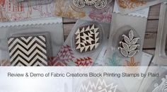 Unboxing and Overview of the Fabric Creations Block Printing Line from Plaid | Craft Test Dummies