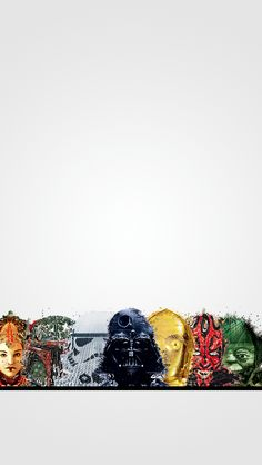 Minimal Star Wars iPhone 5 wallpaper