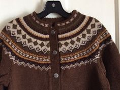 Rockabilly Fair Isle Nordic Cardigan Ski wool by SisterSidVintage
