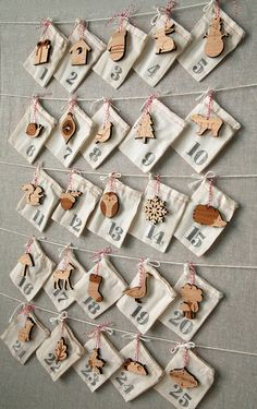 Woodland Ornament Advent Calendar by by peppersprouts on Etsy