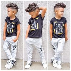 """Love this """"Back to school"""" look from 😍 So many options to choose from! Little Boy Swag, Baby Boy Swag, Little Boy Outfits, Little Boy Fashion, Kids Fashion Boy, Toddler Boy Outfits, Cute Outfits For Kids, Toddler Fashion, Toddler Boys"""