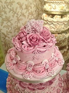 Royal Iced wedding cake with Roses