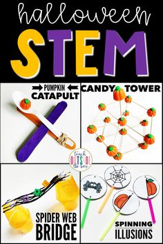 Four LOW PREP Elementary STEM Challenges for October | STEM Activities