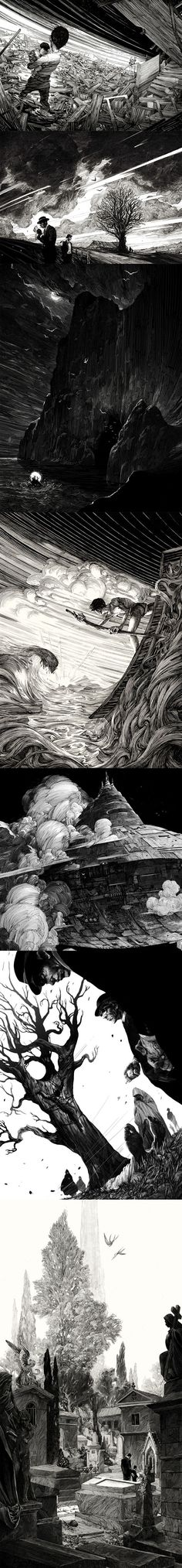 Illustration | Pen & Ink Drawing by Nicolas Delort in Paris on scratchboard