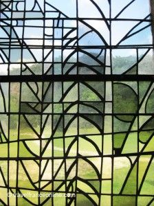 Léhon Abbey in #Brittany #stained glass www.travelfranceonline.com
