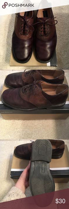 Croft & Barrow men's dress shoe Color: Brown. Size: 10W. Worn a handful of times. Great condition, no noticeable wear to sole. Leather upper, rubber sole. croft & barrow Shoes