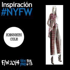 """Inspiración de Kenneth Cole para su nueva colección Otoño/Invierno 2014 que presenta en New York Fashion Week. Su diseñador explicó lo que motivó la creaación de esta nueva colección: """"Tradición e innovación se encuentran con las modernas fabricaciones de plises, el punto de espina y estampados de rayas, con una interacción consistente entre lo suave y el talle sastre"""". #YZAB #ESTÉTICA #Moda #NYFW #FW14"""