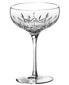 LOVE these old-school crystal champagne glasses. So 20's glam!  I have my mother in laws whole set of these crystal glasses-service for 8-Love them!!!!