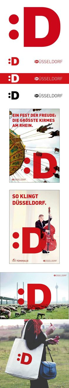 Identity for Dusseldorf, Germany, by BBDO Proximity #city_brand 2012 (scheduled via http://www.tailwindapp.com?utm_source=pinterest&utm_medium=twpin&utm_content=post7349304&utm_campaign=scheduler_attribution)