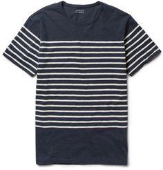 J.CrewMonaco Striped Cotton T-Shirt