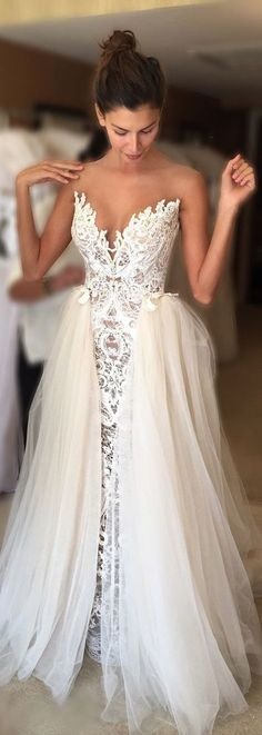 Elegant Wedding Dress Bride Gown,lace wedding dresses,white wedding dresses,modest wedding dresses
