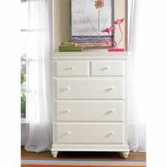 smartstuff Classic 4.0 Summer White 5 Drawer Dresser - 131A010, Durable