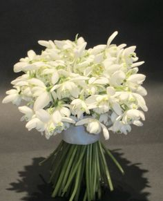 Snowdrop bouquet for a spring wedding