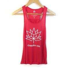 Racerback Tank Tops for Women Canada 150 Logo, Canada Day Shirts, Racerback Tank Top, Athletic Tank Tops, Active Wear, Collection, Fashion, Moda, Fasion