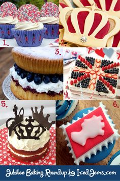 Jubilee Baking Ideas - Fit for a Queen! British Cake, British Party, Union Jack Cake, Opening A Bakery, London Party, Mini Cakes, Cup Cakes, Party Snacks, Creative Cakes