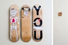 Tatjana Hardikov x Sitflip. You know where the power lies. Skateboard art. Skateboard chair.