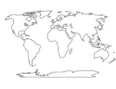 Blank World Map Best Photos Of Printable Maps Political With - Continents map outline
