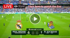 Watch the live match of LaLiga between Real Madrid and Real Sociedad on Sport24. Real Madrid, Football Tournament, Live Matches, Europa League, Champions League, Premier League, Valencia, Watch, The League