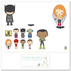 Justice League printable cards and stickers