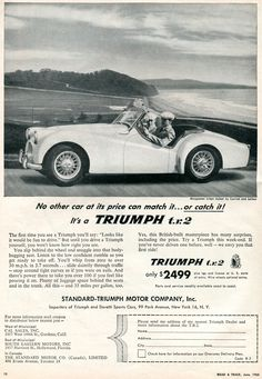 1955 Triumph TR2 Advertisement Road & Track June 1955   Flickr - Photo Sharing!