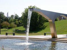 Graphisoft-Park-by-Garten-Studio-05-aquaduct « Landscape Architecture Works | Landezine Landscape Architecture Works | Landezine