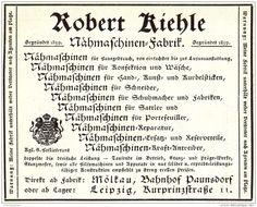 Original-Werbung/ Anzeige 1904 - NÄHMASCHINEN-FABRIK ROBERT KIEHLE - MOLKAU - LEIPZIG  - ca. 110 x 80 mm