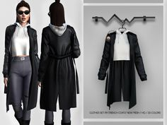 Sims 4 Mods Clothes, Sims 4 Clothing, Sims 4 Cas Mods, Sims 4 Collections, The Sims 4 Packs, Coats For Women, Clothes For Women, Sims 4 Toddler, Sims 4 Game