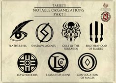 Tariel's Notable Organizations - Part 1 by Levodoom.deviantart.com on @DeviantArt
