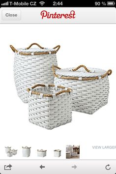 Check out our Baby Storage Baskets, as well as our other Nursery Organization products at Serena & Lily. Baby Storage, Storage Baskets, Laundry Baskets, Laundry Room, Laundry Bin, Kids Storage, Rope Basket, Basket Weaving, Coastal Homes