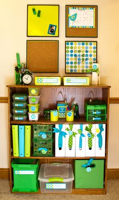Maybe for the bookshelf area you're wanting to do in your room?  Would be a great way to organize your school supplies & books! Perhaps even put a wipe off calendar in place of the 4 boards?