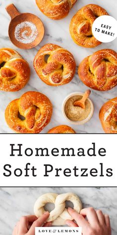 This homemade soft pretzels recipe is such a fun baking project! With basic ingredients like flour, yeast, and baking soda, it's delicious and easy to make.