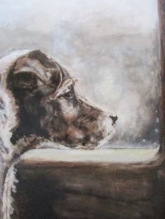 Pet portrait of a Jack Russell. Oil on canvas painting by artist Emma Gillo of The Gifted Hound.
