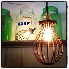 Glass jars and wire lamp - Solid ID