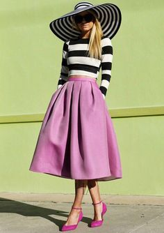 Shop Black White Long Sleeve Striped Top With Purple Skirt online. Sheinside offers Black White Long Sleeve Striped Top With Purple Skirt & more to fit your fashionable needs. Free Shipping Worldwide!