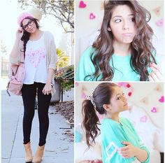 Running Late For School ⎜Quick Hair fixes, Makeup, & Outfit Ideas! Teen Fashion, Fashion Beauty, Fashion Outfits, Fashion 2014, Fasion, Bethany Mota Outfits, Late For School, Bae, Hair Fixing