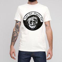 Pug T shirt Dog Tshirt Screen Printed T shirt. by BenPrints