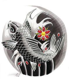 Japanese koi fish design