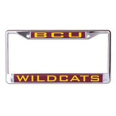 Bethune-Cookman University BCU License Plate Frame- Style Two - Brothers and Sisters' Greek Store