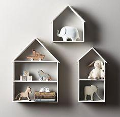 Mooi voor kleine spulletjes op #kinderkamer en #babykamer | Petite House Shelving