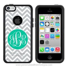 Monogrammed iPhone 5c Otterbox {Commuter Series}