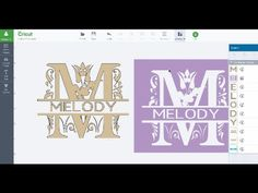 Split Letter Monogram Using Slice in Cricut Design Space Part 2 - YouTube