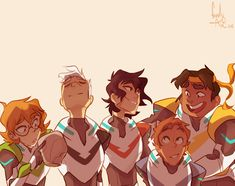 """friendlyaxe:""""Guys I'm so happy they're a big ol family again. Hunk Voltron, Form Voltron, Voltron Ships, Voltron Klance, Voltron Paladins, Voltron Fanart, Space Cat, Power Rangers, Dreamworks"""