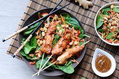 Marineret kylling på spyd - saftige kyllingespyd opskrift - LifeByNan
