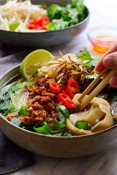 This vegan pho will appease your cravings for a delicious, intensely flavored pho. Thick slurpy rice noodles in a deliciously spiced umami broth from scratch!
