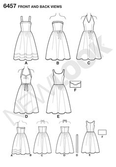This pattern has several styles you can work with. I know the skirt looks full enough, but make sure to measure the pattern pieces before you start cutting.  Great for a rock-a-billy vibe